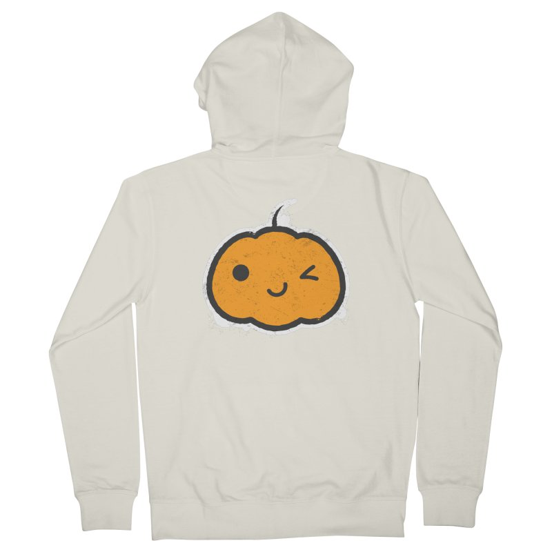 Cool Pumpkin Women's French Terry Zip-Up Hoody by zoljo's Artist Shop