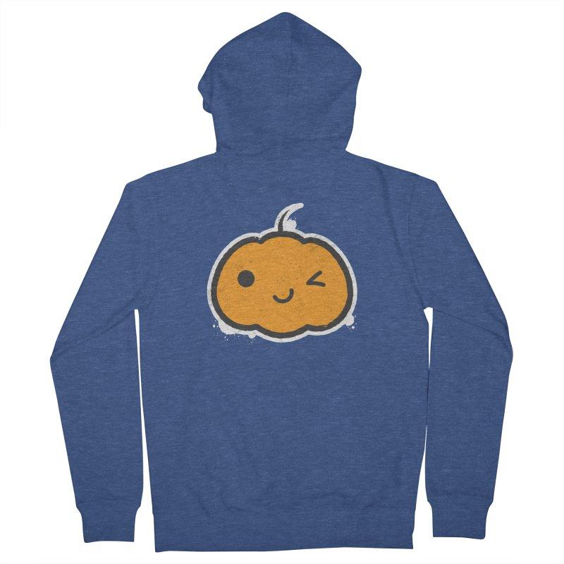 Cool Pumpkin Men's French Terry Zip-Up Hoody by zoljo's Artist Shop