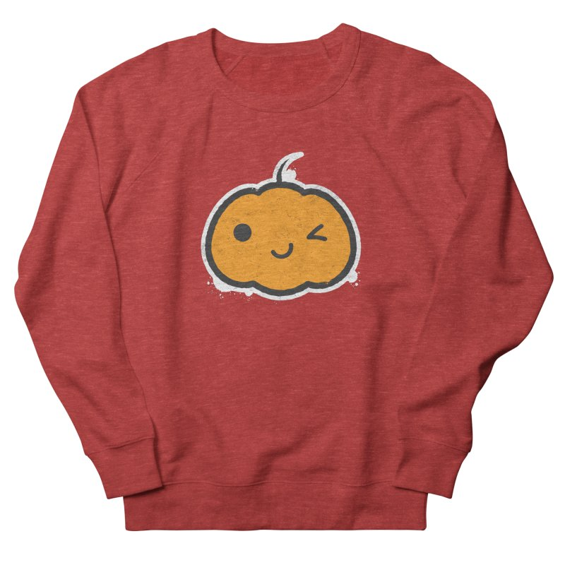 Cool Pumpkin Women's French Terry Sweatshirt by zoljo's Artist Shop