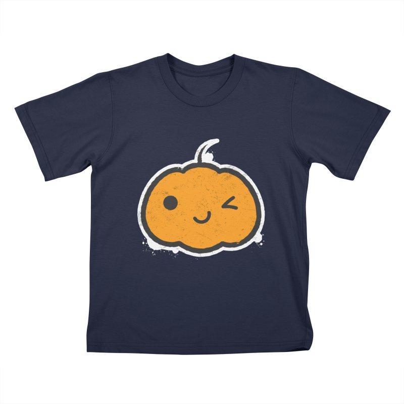 Cool Pumpkin Kids T-Shirt by zoljo's Artist Shop