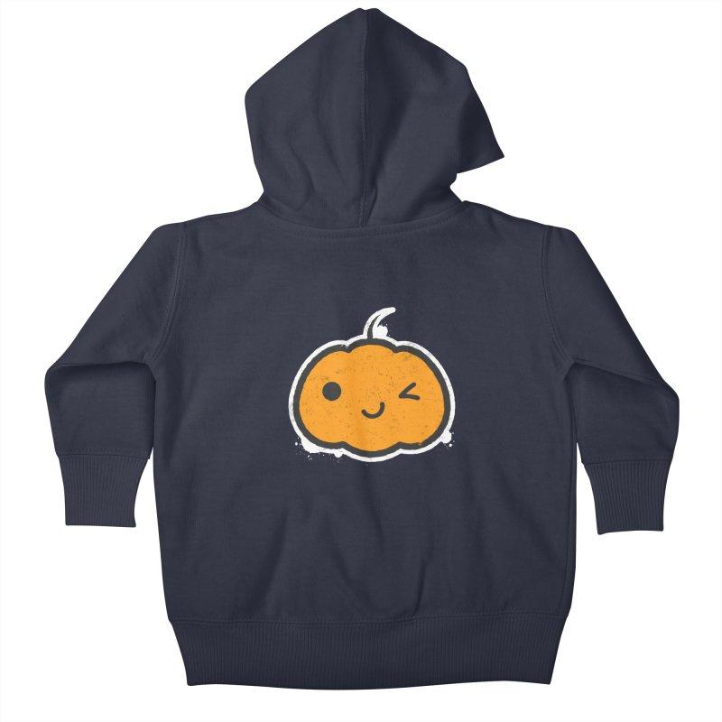 Cool Pumpkin Kids Baby Zip-Up Hoody by zoljo's Artist Shop
