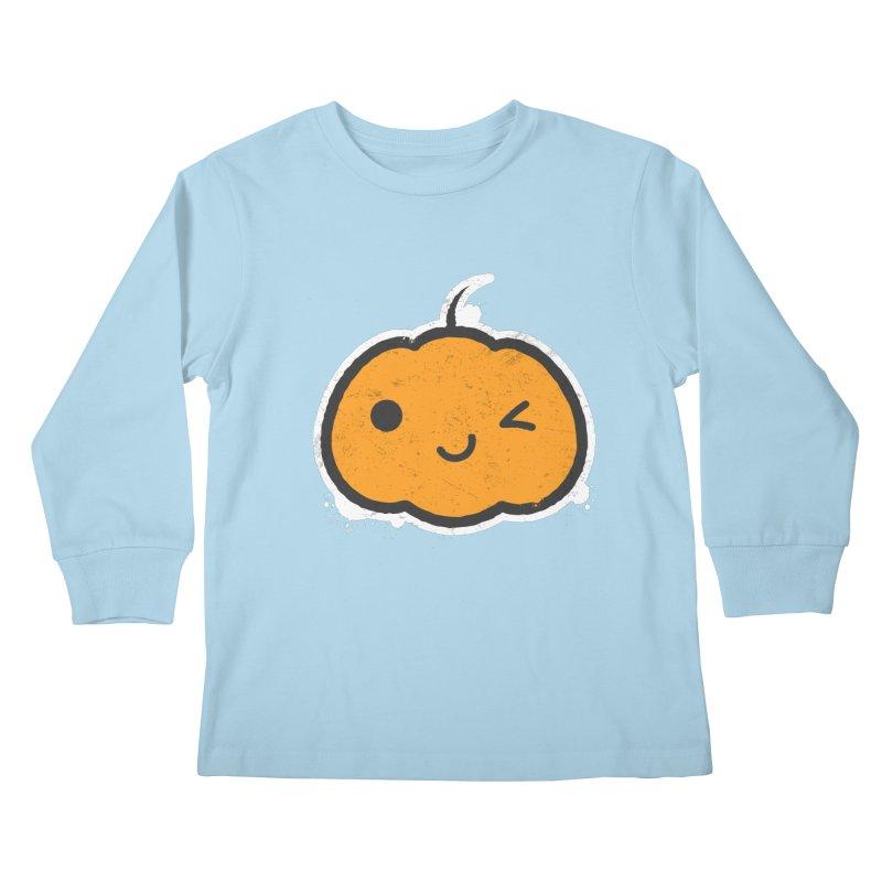 Cool Pumpkin Kids Longsleeve T-Shirt by zoljo's Artist Shop