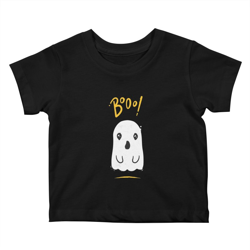 Cute Haloween Ghost Kids Baby T-Shirt by zoljo's Artist Shop
