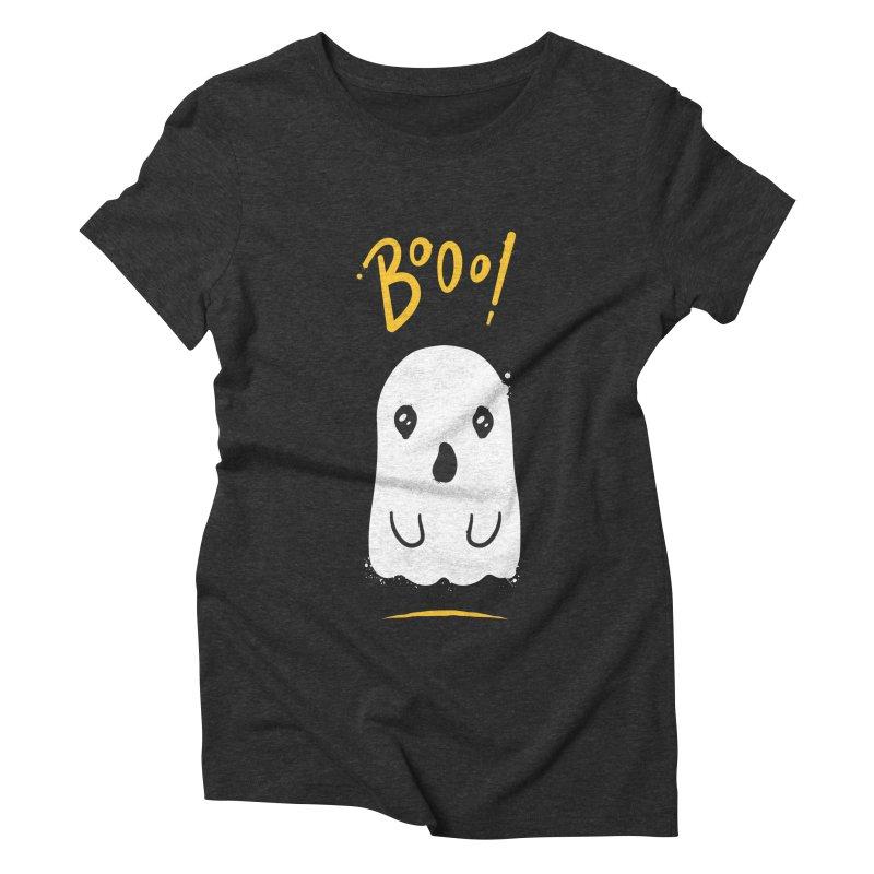 Cute Haloween Ghost Women's Triblend T-Shirt by zoljo's Artist Shop