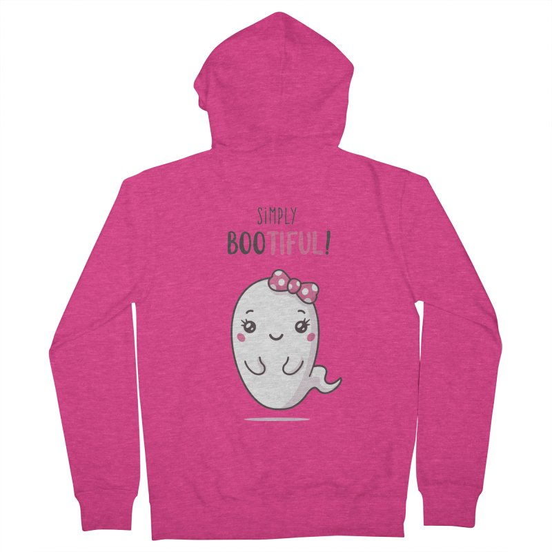Simply Bootiful - Halloween Ghost Women's French Terry Zip-Up Hoody by zoljo's Artist Shop