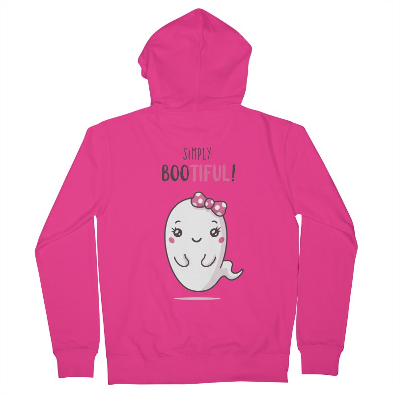 Simply Bootiful - Halloween Ghost Men's French Terry Zip-Up Hoody by zoljo's Artist Shop