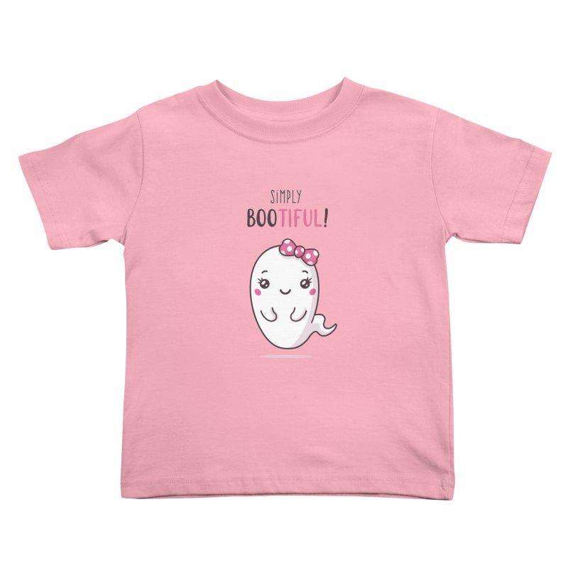 Simply Bootiful - Halloween Ghost Kids Toddler T-Shirt by zoljo's Artist Shop