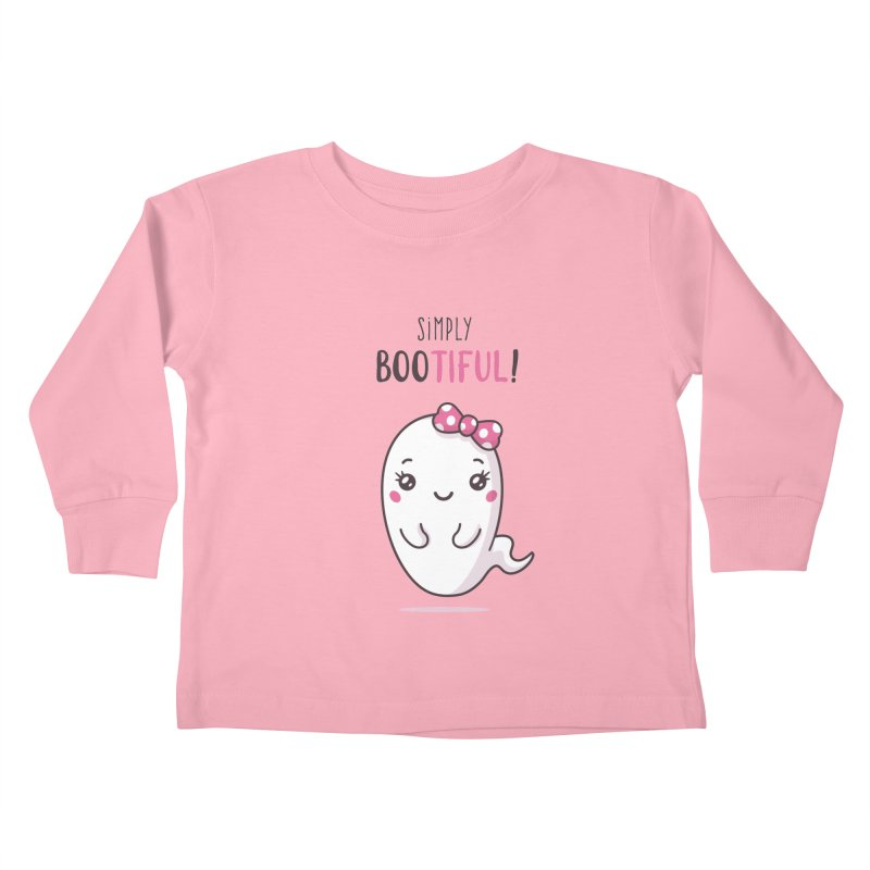 Simply Bootiful - Halloween Ghost Kids Toddler Longsleeve T-Shirt by zoljo's Artist Shop