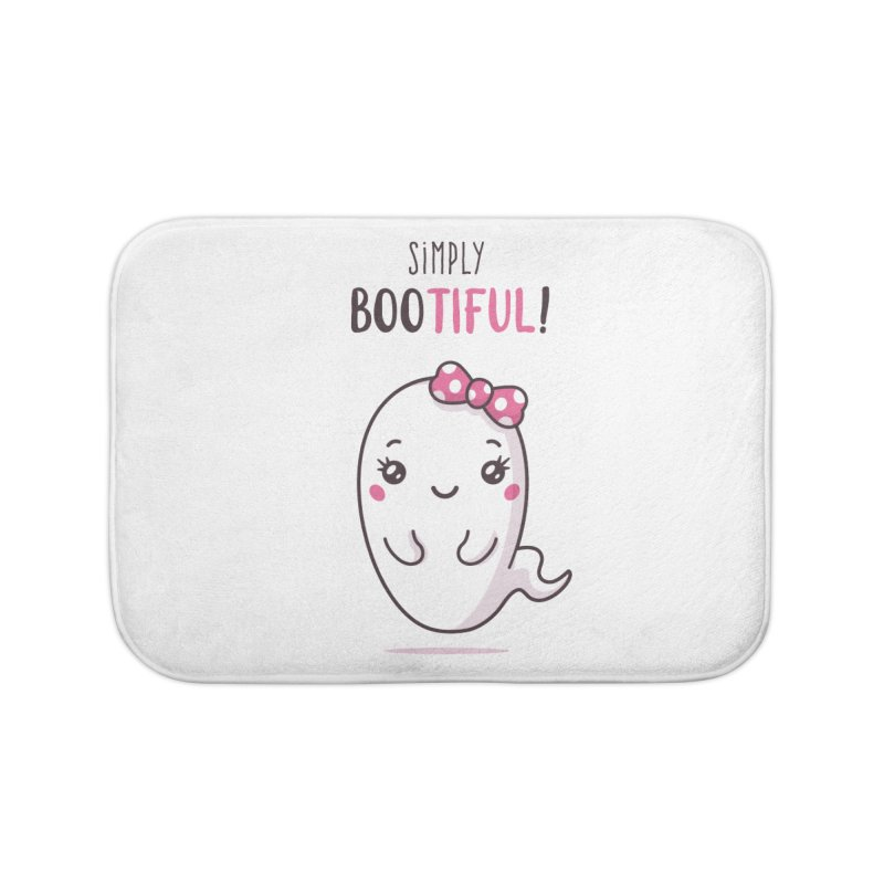 Simply Bootiful - Halloween Ghost Home Bath Mat by zoljo's Artist Shop