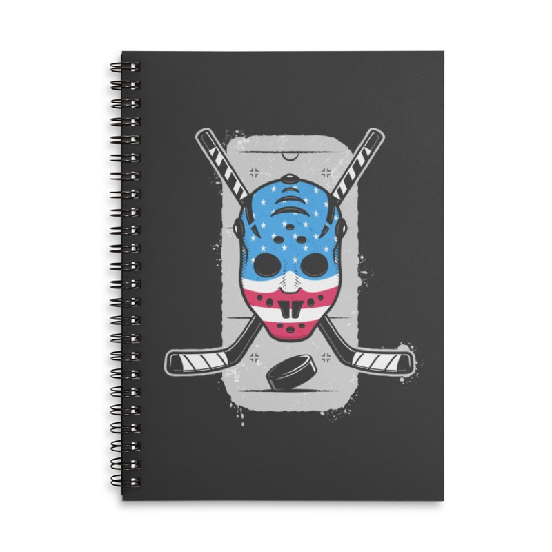 American Ice Hockey - USA Accessories Lined Spiral Notebook by zoljo's Artist Shop