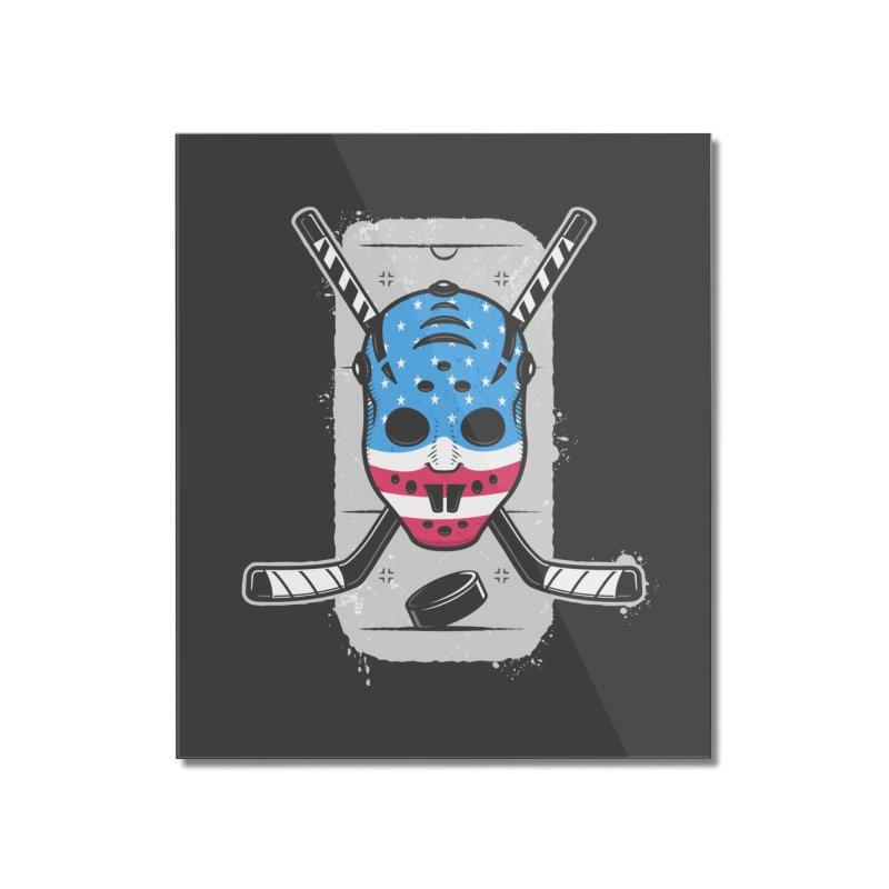 American Ice Hockey - USA Home Mounted Acrylic Print by zoljo's Artist Shop