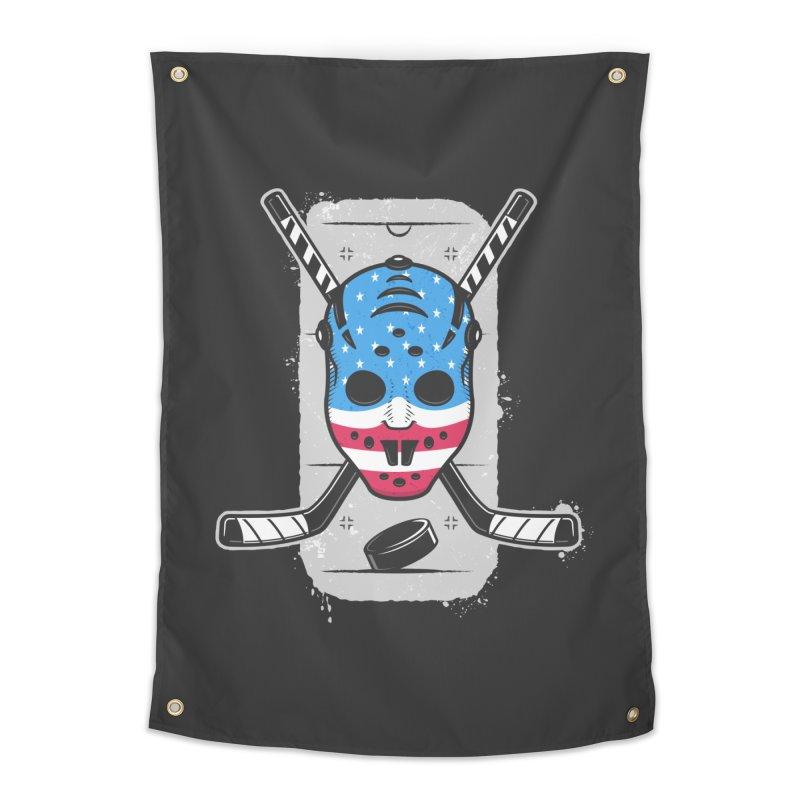 American Ice Hockey - USA Home Tapestry by zoljo's Artist Shop