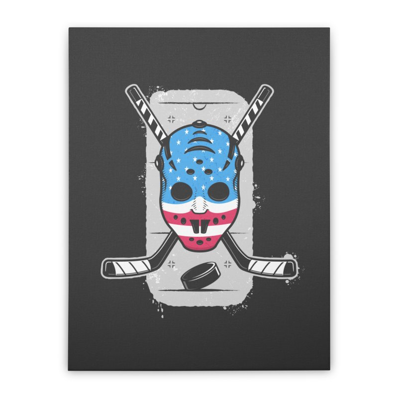American Ice Hockey - USA Home Stretched Canvas by zoljo's Artist Shop