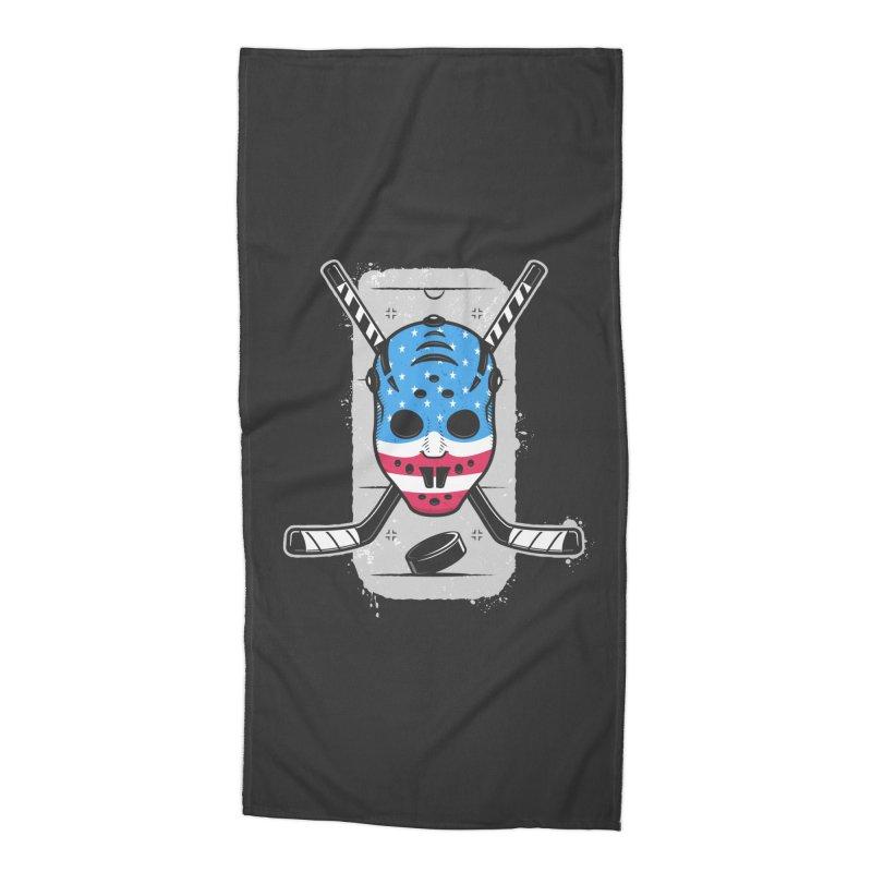 American Ice Hockey - USA Accessories Beach Towel by zoljo's Artist Shop