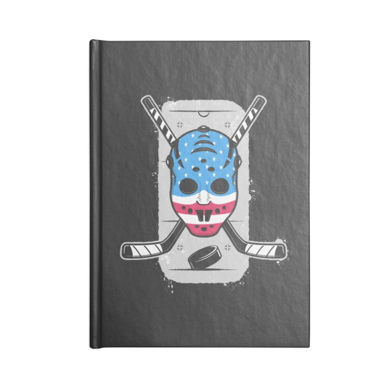 American Ice Hockey - USA Accessories Lined Journal Notebook by zoljo's Artist Shop