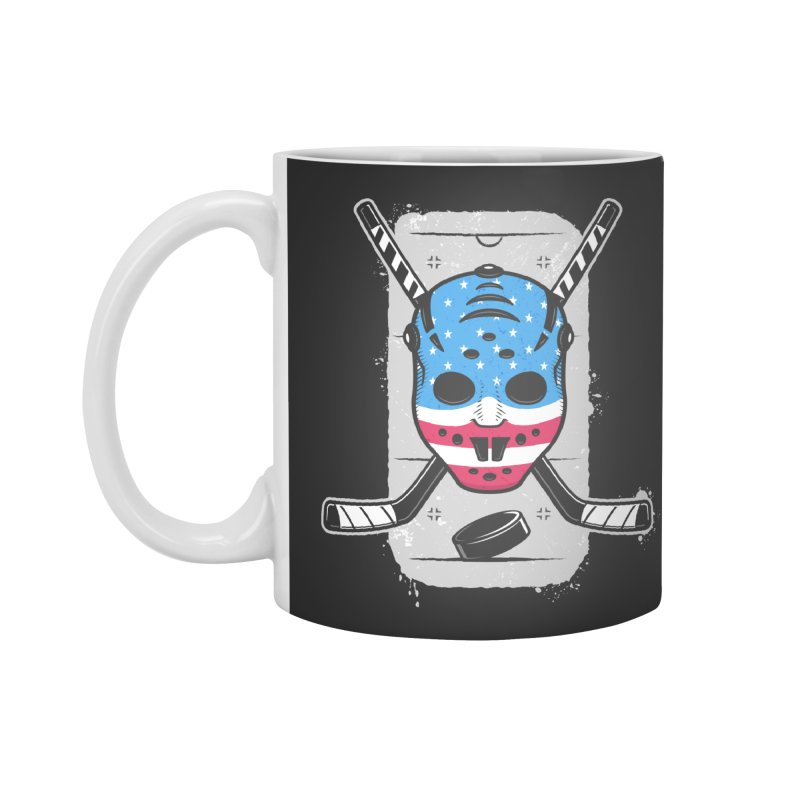 American Ice Hockey - USA Accessories Standard Mug by zoljo's Artist Shop