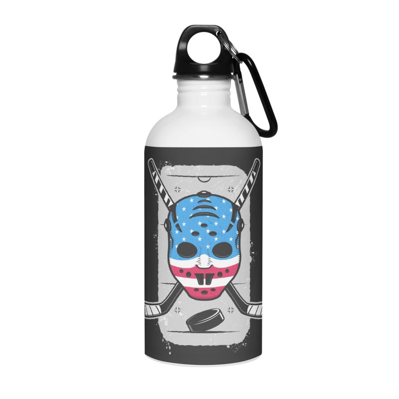 American Ice Hockey - USA Accessories Water Bottle by zoljo's Artist Shop