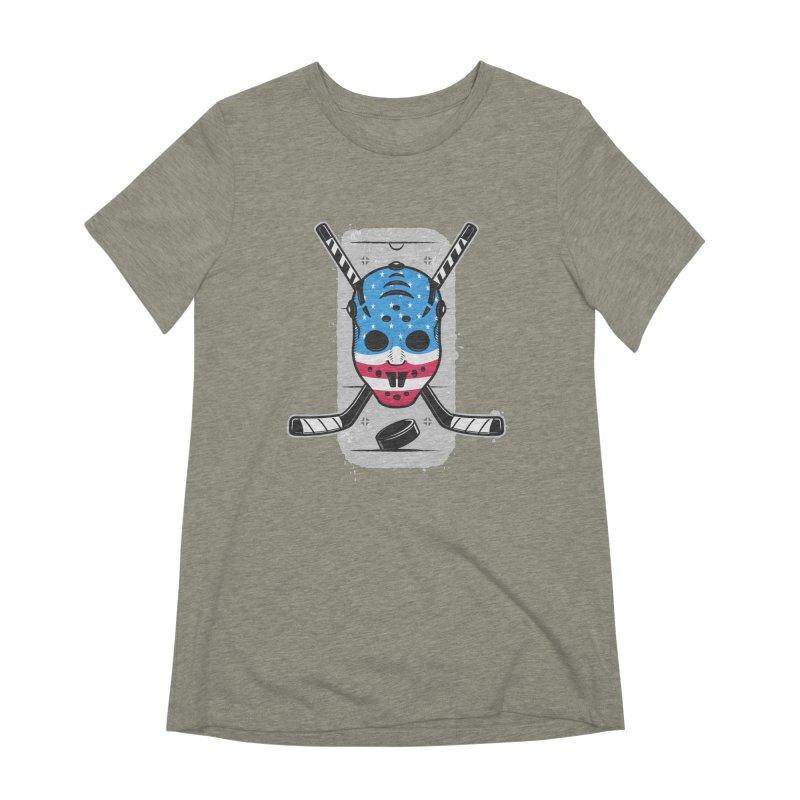 American Ice Hockey - USA Women's Extra Soft T-Shirt by zoljo's Artist Shop