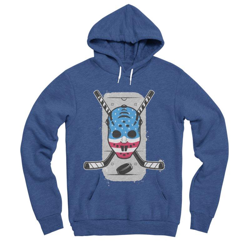 American Ice Hockey - USA Men's Sponge Fleece Pullover Hoody by zoljo's Artist Shop