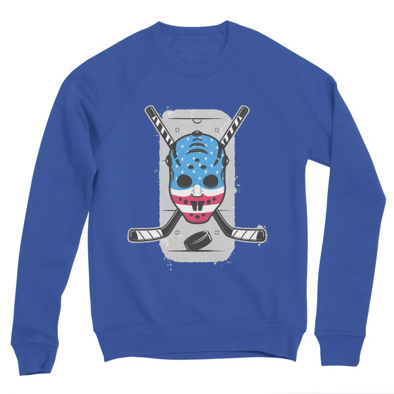 American Ice Hockey - USA Men's Sponge Fleece Sweatshirt by zoljo's Artist Shop