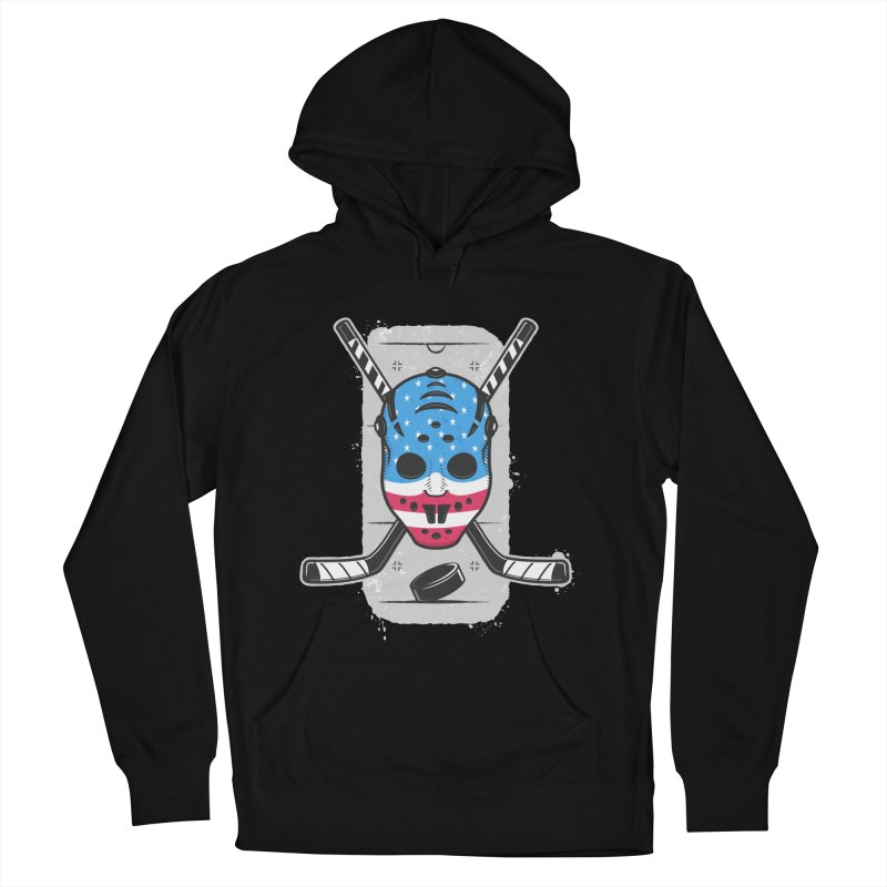 American Ice Hockey - USA Women's French Terry Pullover Hoody by zoljo's Artist Shop