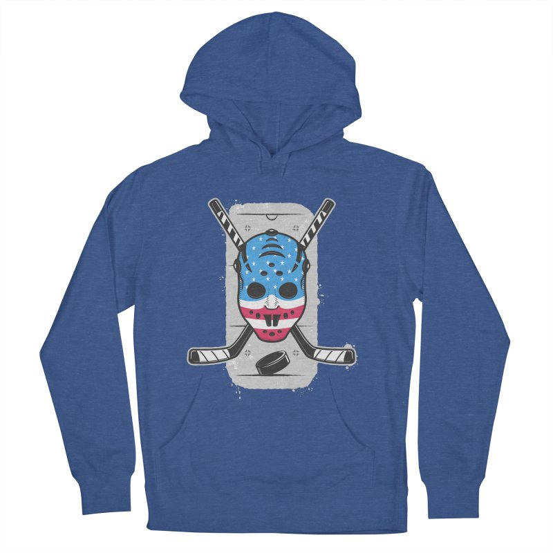 American Ice Hockey - USA Men's French Terry Pullover Hoody by zoljo's Artist Shop