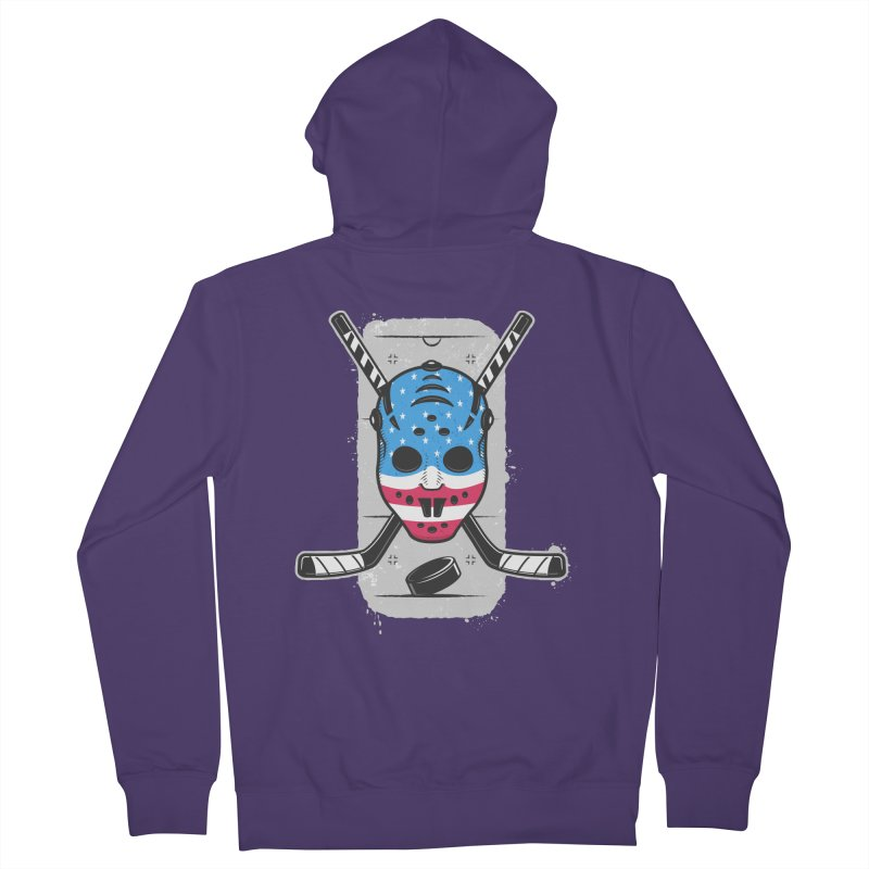 American Ice Hockey - USA Women's French Terry Zip-Up Hoody by zoljo's Artist Shop