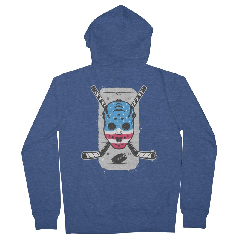 American Ice Hockey - USA Men's Zip-Up Hoody by zoljo's Artist Shop