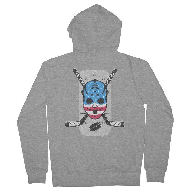 American Ice Hockey - USA Men's French Terry Zip-Up Hoody by zoljo's Artist Shop
