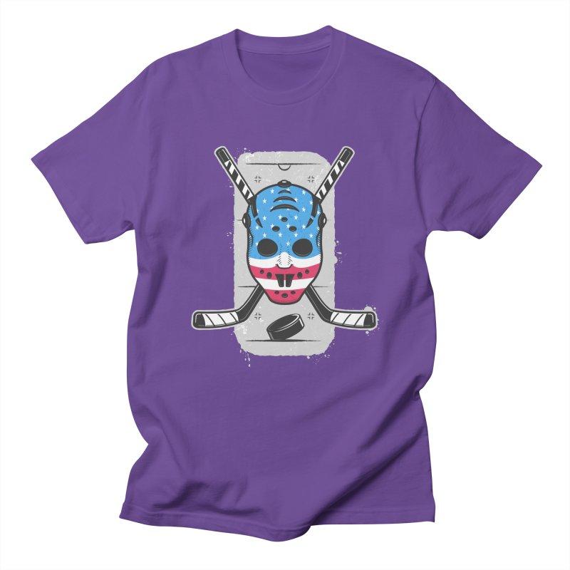 American Ice Hockey - USA Men's Regular T-Shirt by zoljo's Artist Shop