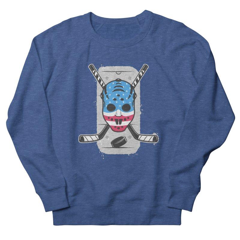 American Ice Hockey - USA Men's French Terry Sweatshirt by zoljo's Artist Shop