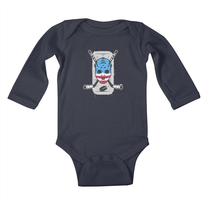American Ice Hockey - USA Kids Baby Longsleeve Bodysuit by zoljo's Artist Shop