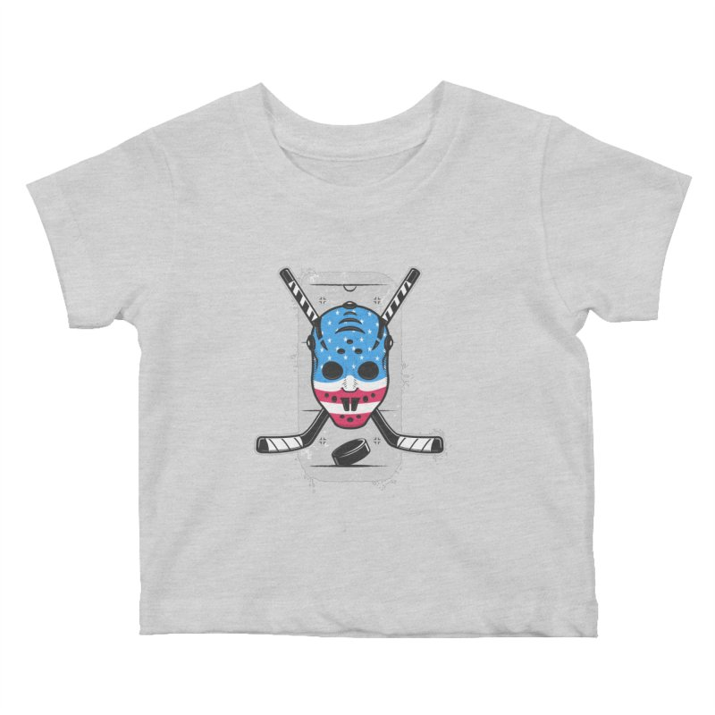 American Ice Hockey - USA Kids Baby T-Shirt by zoljo's Artist Shop