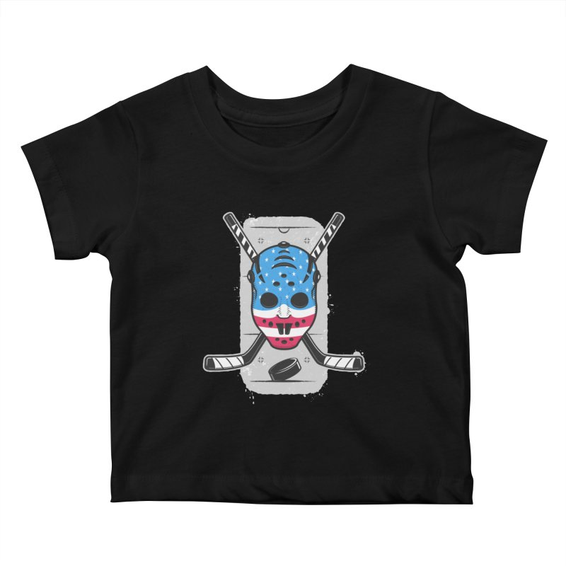 American Ice Hockey - USA Kids Baby T-Shirt by zoljo's Artist Shop