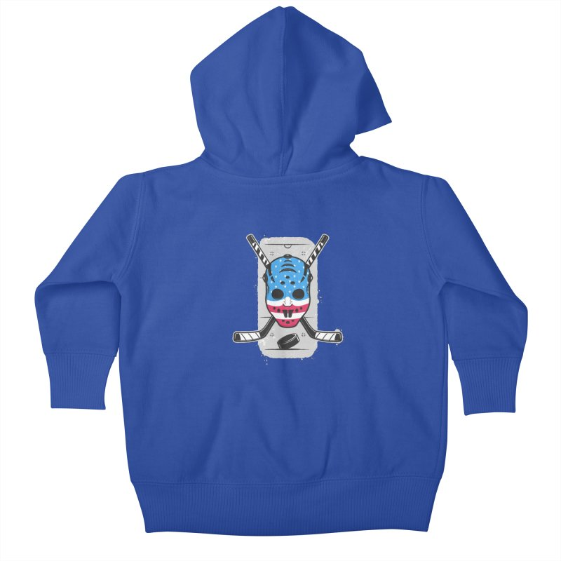 American Ice Hockey - USA Kids Baby Zip-Up Hoody by zoljo's Artist Shop