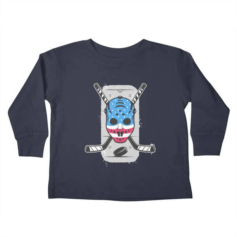 American Ice Hockey - USA Kids Toddler Longsleeve T-Shirt by zoljo's Artist Shop