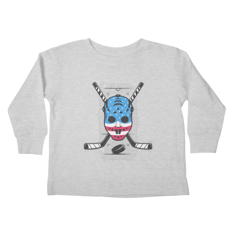 American Ice Hockey - USA Kids Toddler Longsleeve T-Shirt by zoljo's Artist Shop