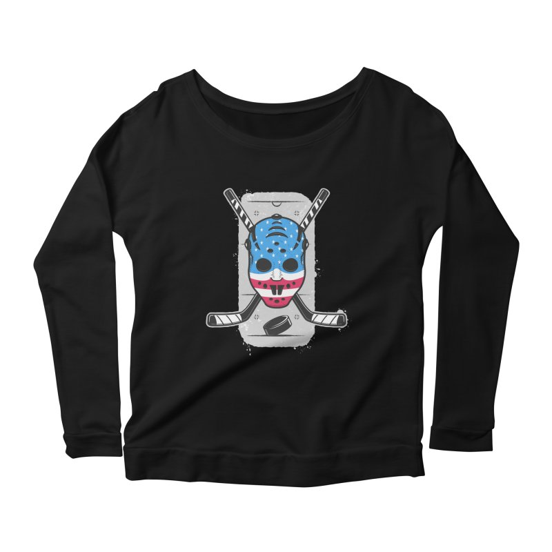 American Ice Hockey - USA Women's Scoop Neck Longsleeve T-Shirt by zoljo's Artist Shop