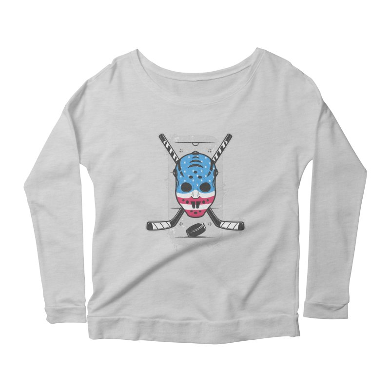 American Ice Hockey - USA Women's Scoop Neck Longsleeve T-Shirt by zoljo's Artist Shop