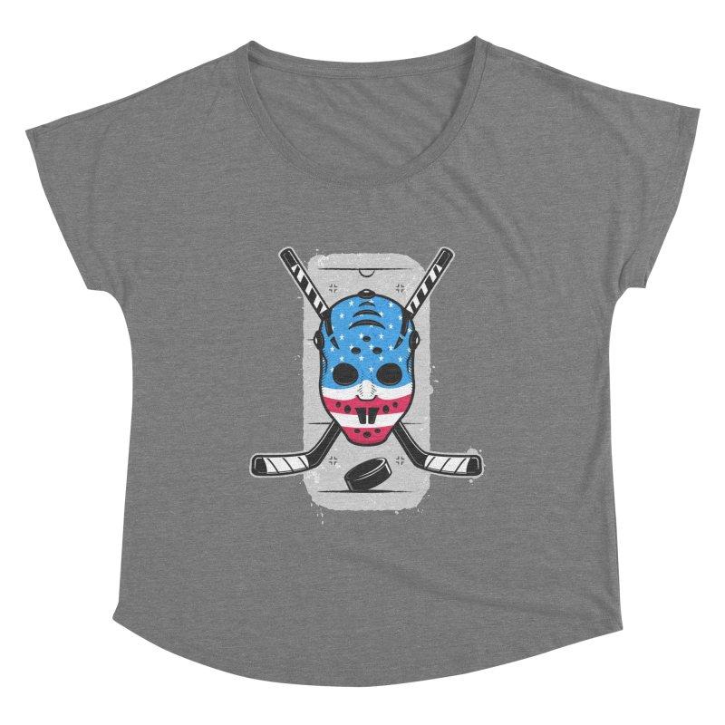 American Ice Hockey - USA Women's Scoop Neck by zoljo's Artist Shop