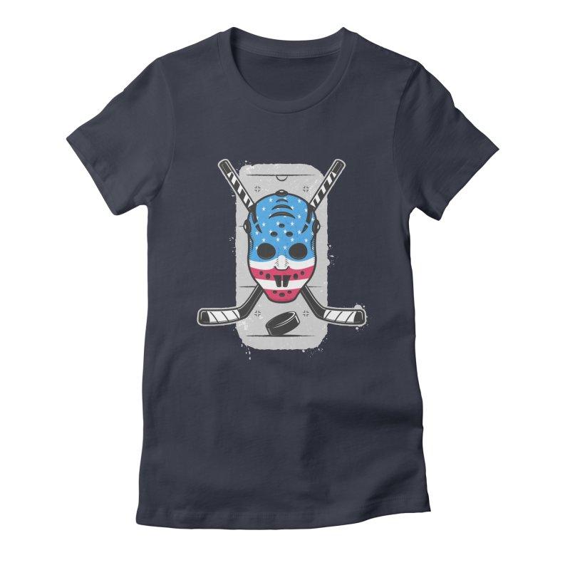 American Ice Hockey - USA Women's Fitted T-Shirt by zoljo's Artist Shop