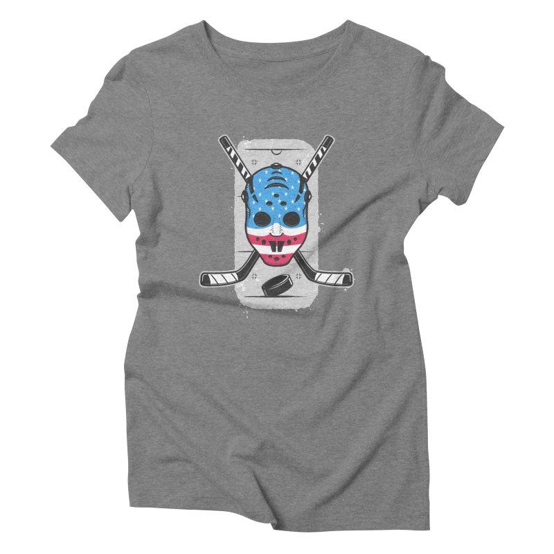 American Ice Hockey - USA Women's Triblend T-Shirt by zoljo's Artist Shop