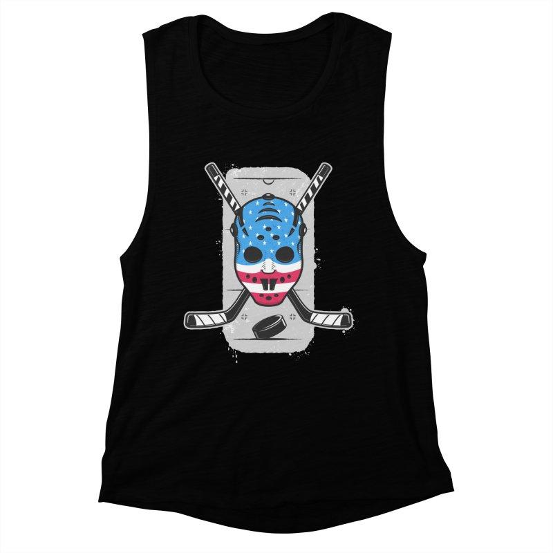 American Ice Hockey - USA Women's Muscle Tank by zoljo's Artist Shop