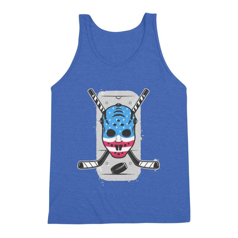 American Ice Hockey - USA Men's Triblend Tank by zoljo's Artist Shop