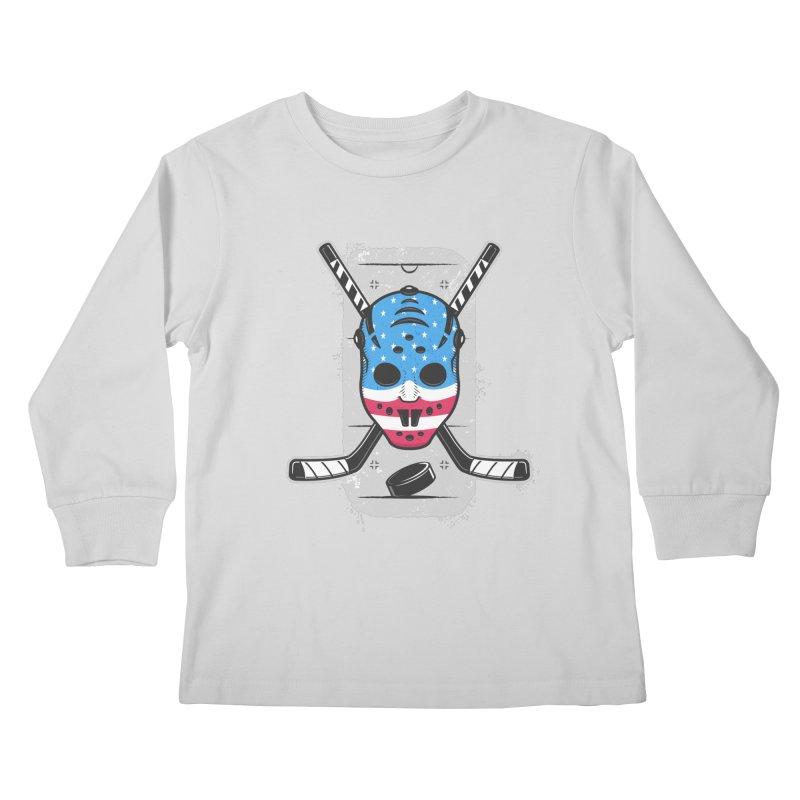 American Ice Hockey - USA Kids Longsleeve T-Shirt by zoljo's Artist Shop
