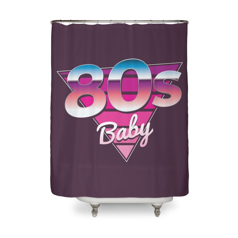 80s Baby Home Shower Curtain by zoljo's Artist Shop