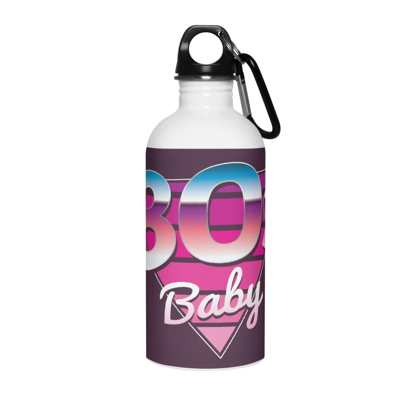 80s Baby Accessories Water Bottle by zoljo's Artist Shop