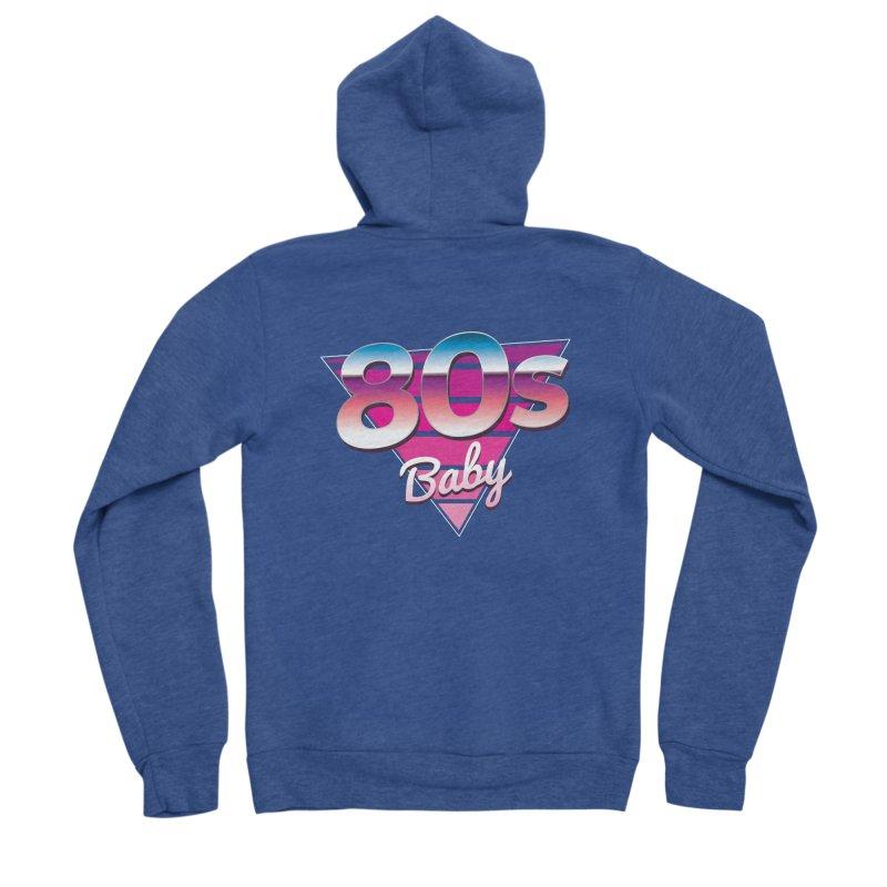 80s Baby Men's Sponge Fleece Zip-Up Hoody by zoljo's Artist Shop