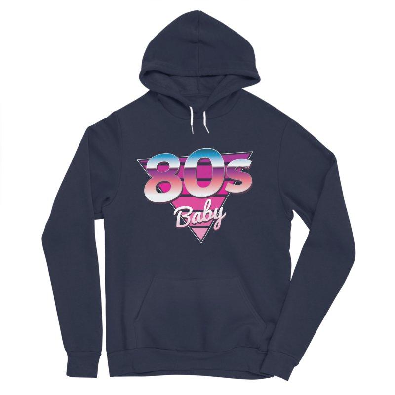 80s Baby Men's Sponge Fleece Pullover Hoody by zoljo's Artist Shop