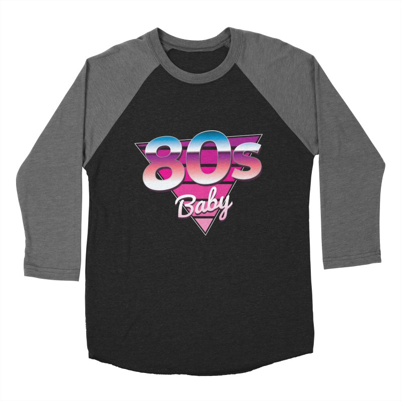 80s Baby Women's Baseball Triblend Longsleeve T-Shirt by zoljo's Artist Shop